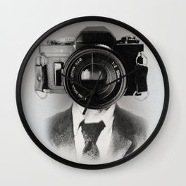 Faces of the Past: Camera _no stripes Wall Clock