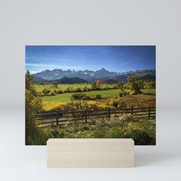 Mount Sneffels Hay Bales Morning Mini Art Print