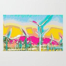 wind turbine Rug