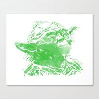 yoda Canvas Prints featuring Yoda by DanielBergerDesign