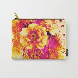 splash flowers Carry-All Pouch