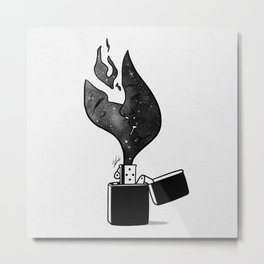Fired up. Metal Print