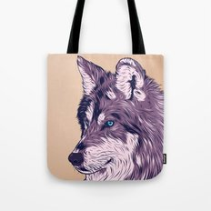 Blue eyed wolf Tote Bag