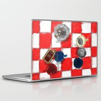 cigarettes Laptop & iPad Skins featuring Coffee and Cigarettes by The Strawbridge Collective