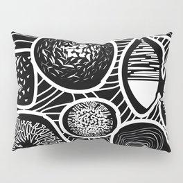 Black and white pattern - linogravure style Pillow Sham