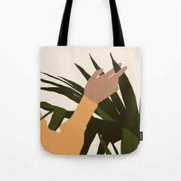 SENUALITÀ MONDIALE - Half of world - Lovely girl hand touching plant Tote Bag