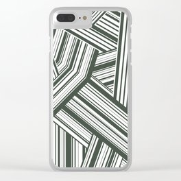 Abstract Crossing Stripes Pattern Clear iPhone Case