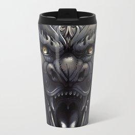 Foo Lion Dog Mask Travel Mug