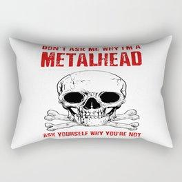 Metalhead - Funny Rock Black Dark Heavy Metal Rectangular Pillow