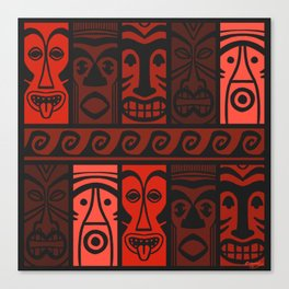 Lava Red Tikis! Canvas Print