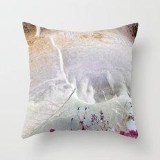 Red Erode Throw Pillow