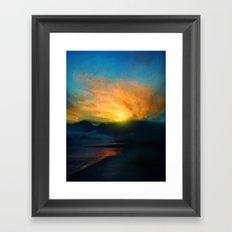 In the sunrise Framed Art Print