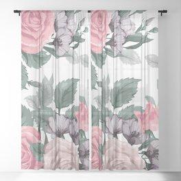 FLOWERS VIII Sheer Curtain