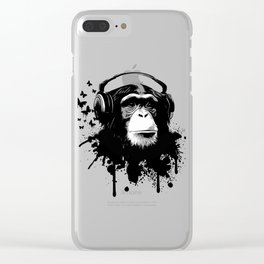 Monkey Business - White Clear iPhone Case