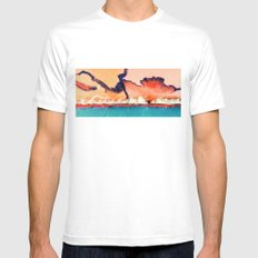 Dawn Out MEDIUM Mens Fitted Tee White