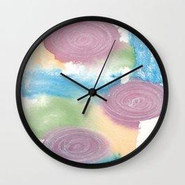 Watercolour Swirls Wall Clock