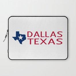 Texas: Dallas (State Shape & Star) Laptop Sleeve