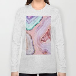 Mineral Agates #Glam collection Long Sleeve T-shirt