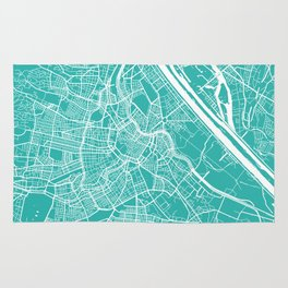 Vienna map turquoise Rug