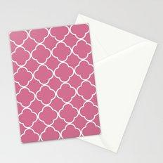 Quatrefoil Bubblegum Stationery Cards