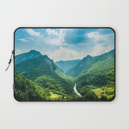 Landscape - Green Mountains  Laptop Sleeve