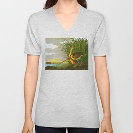 Long-billed Curlew Bird Unisex V-Neck