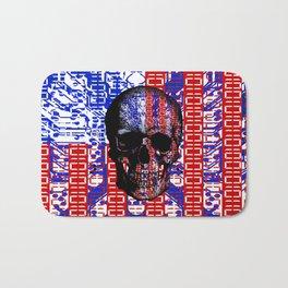 US Skull in a digital circuit. Bath Mat