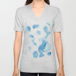 180515  Abstract Watercolour Wp 6  | Watercolor Brush Strokes Unisex V-Neck