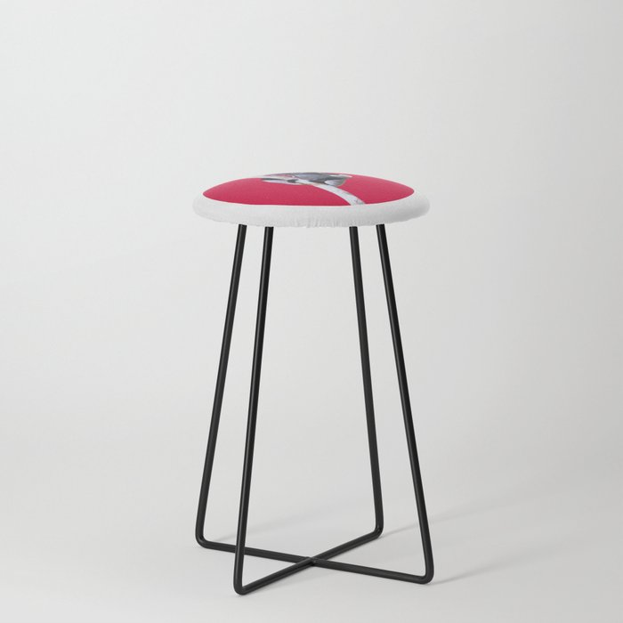 Indri indri sitting in the tree Counter Stool