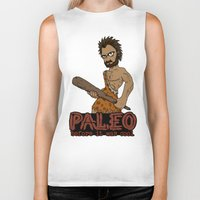 crossfit Biker Tanks featuring Paleo Before It Was Cool Crossfit Design by RonkyTonk by RonkyTonk