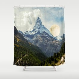 Wander trip sets the Moon Shower Curtain