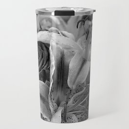 Just for you black and white Travel Mug