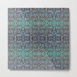 Psychedelic Ironwork Pattern Metal Print