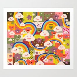 Rainy-bow Art Print