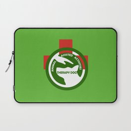 Animal Assisted Activities  - THERAPY DOG logo 2 Laptop Sleeve