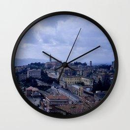 Vintage Color Photo * Perugia * Umbria * Italy * Kodachrome * 1950's Wall Clock