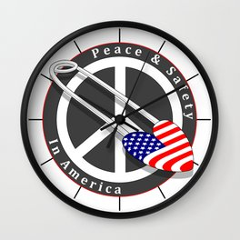 Safety in America Wall Clock