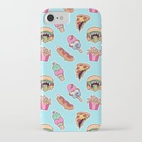 junk food iPhone & iPod Cases featuring junk food by Kenzie Tsang