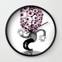 persona Wall Clocks featuring Ojon by Pahito