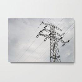 Electric power transmission Metal Print