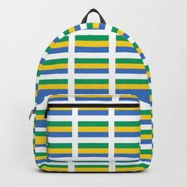 flag of gabon -gabon,gabonais,gabonaise,Gabonese,gabones,libreville. Backpack