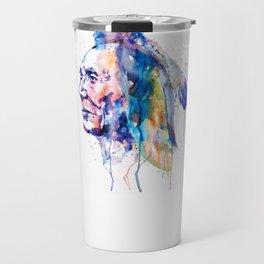 Sioux Warrior Watercolor Travel Mug