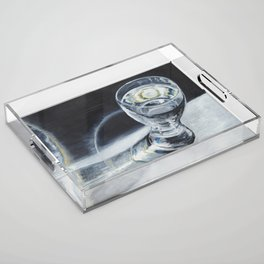 Glass of the water in the light Acrylic Tray