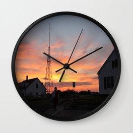 Coastguard Sunset Wall Clock