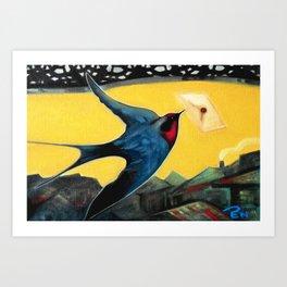 Swallow Bird Painting Art Print