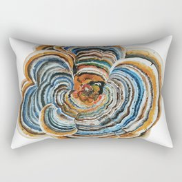 "Trametes ""Turkey Tail"" Mushroom Rectangular Pillow"