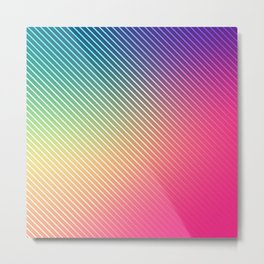 Colorfully Patterned Metal Print