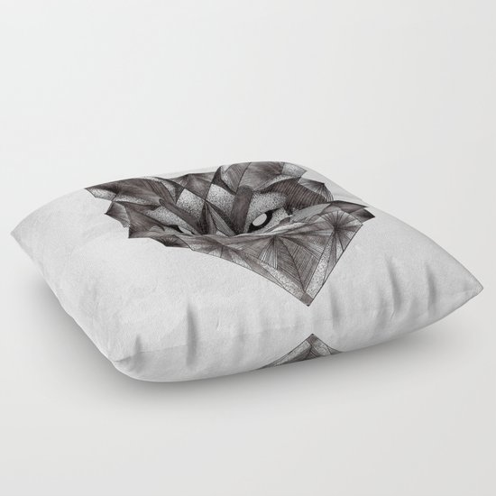 Animal Shaped Floor Pillows : Geometric Wolf Floor Pillow by Vickn Society6