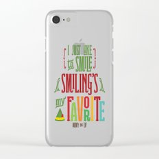 Buddy the Elf! Smiling's My Favorite! Clear iPhone Case