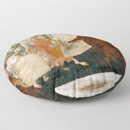 """Sandro Botticelli """"Venus and the Three Graces Presenting Gifts to a Young Woman"""" Floor Pillow"""